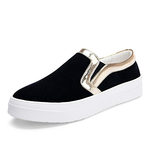 caída de Lok Fu zapatos de las mujeres/Versátil el zapato/Zapatos gruesos con casual estudiante en Inglaterra en el extremo del viento B