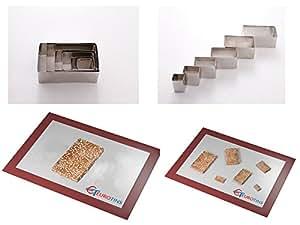 Euro Tins Rectangulaire Emporte pièces Moule a Patisserie Biscuit Découper lot de 6