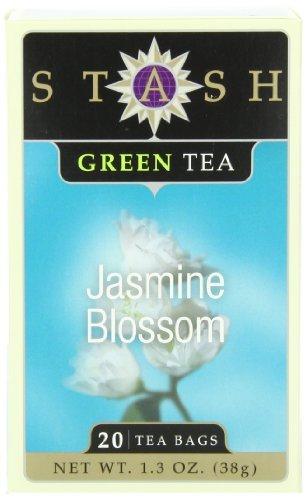Stash Tea Jasmine Blossom Green Tea, 20 Count Tea Bags in Foil (Pack of 6) by Stash Tea