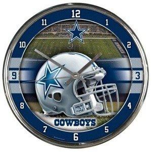 Dallas Cowboys Round Chrome Wall Clock