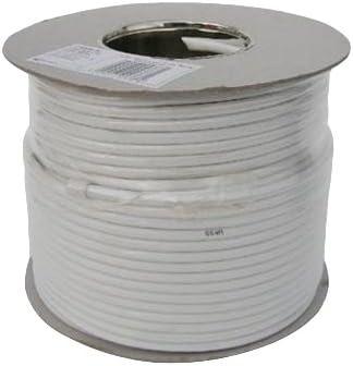 Webro Cable Coaxial Digital RG6 50 m para Antena y televisiones por satélite - Blanco
