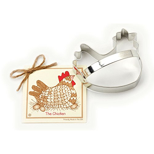 (Chicken Cookie and Fondant Cutter - Ann Clark - 4.5 Inches - US Tin Plated Steel)