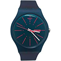 Swatch Archi-Mix New Gentleman Blue dial Silicone Strap Men's Watch SUON708