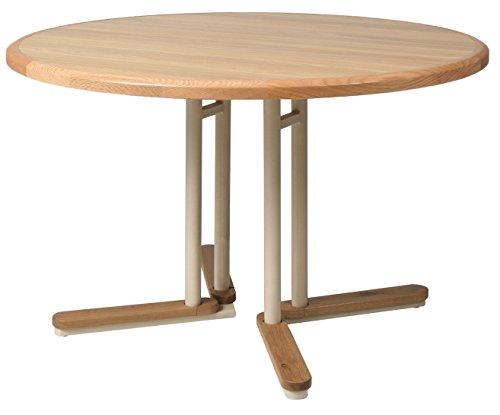 Impacterra QLTK540254742323 Tohoku Extendable Dining Table, Round (Dining Table Round Extendable)