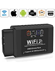 OBD2 Diagnoseapparaat Auto, OBD2 Bluetooth Carly Adapter WiFi OBD II Voertuig Diagnostische Scanner Tool, ELM327 VCDS Draadloze Universele Codelezer voor BMW Ford VW IOS Android Windows