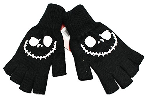 Disney's The Nightmare Before Christmas Cut Off Fingers Jack Skellington Gloves]()