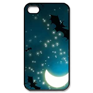 Halloween Night iPhone 4/4s Case Bats and Moon iPhone 4/4s Case