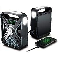 Eton Emergency Weather Bluetooth Radio, Smartphone Charger, Alarm Clock & LED Flashlight, Dual Powered