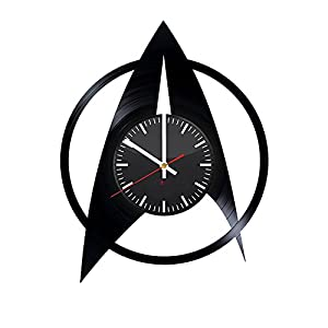 Movie Emblem Design Handmade Vinyl Record Wall Clock - Get unique home room or garage wall decor - Gift ideas for his and her - Fantasy Film Logo Unique Modern Art