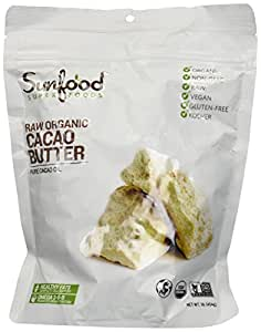 SunFood - Organic Golden Cacao Butter - 1 lb