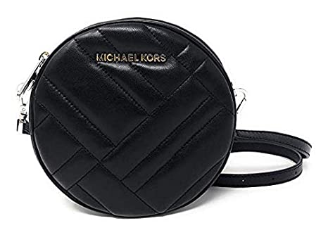 157b90804a72 Amazon.com: Michael Kors Vivianne Canteen Quilted Leather Crossbody ...