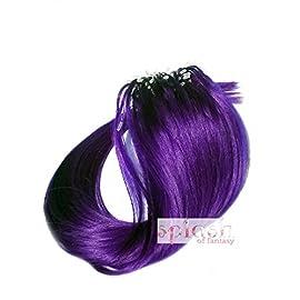 18″ Purple Micro Loop Ring Human Hair Extensions, 30 Strands