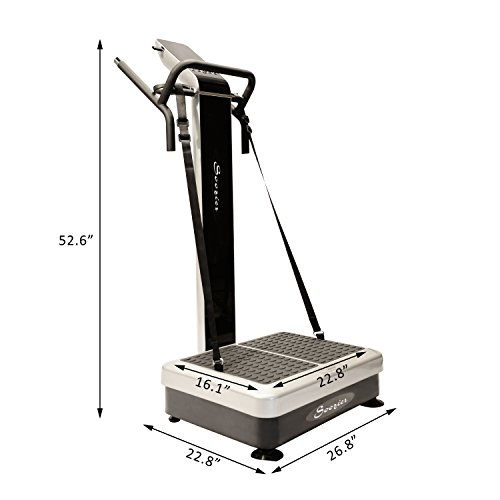 Soozier 1000W Portable Vibration Machine with LCD Display Silver/Black