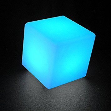 KINLIFE® 16 Colors Changing Night Rechargeable LED Cube Chair, Ideal for Indoor & Outdoor Path Garden Party Pool Wedding Mood Light (Cube 16
