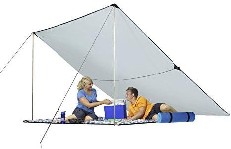 Berger Tarp grau, UV-Schutz 50+, in verschiedenen Größen, Sonnenschutz für Garten Terasse Camping und Strand