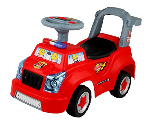 POCO DIVO Fire Engine Truck 3in1 Baby Walker Toddler Ride On Car Pretend Play Toy Kids Gliding Scooter with Music & Light]()
