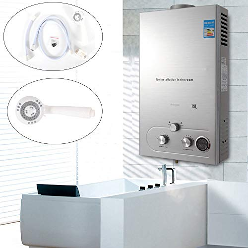 18l Natural Gas Tankless Water Heater Instant Wall Mounted