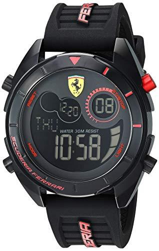 Ferrari Men's 'Forza' Quartz Plastic and Silicone Watch, Color:Black (Model: 0830548)