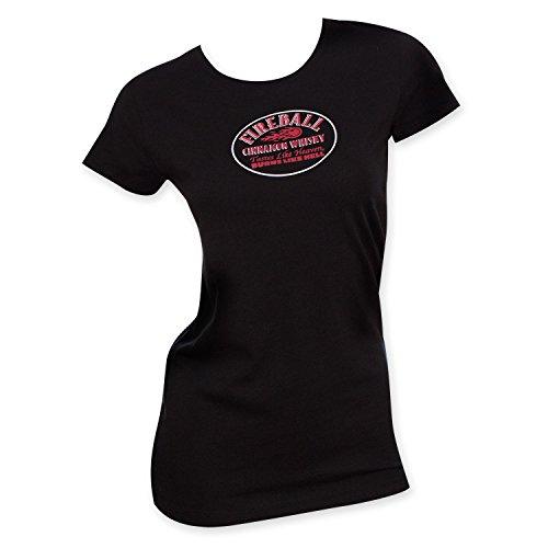 Fireball Women's Today's Soup Tee Shirt Medium Black (Womens Fireball Whiskey Shirt)