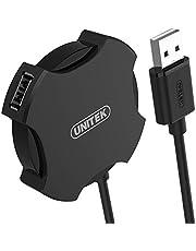 Unitek Y-2178 hub 4x USB 2.0 micro - czarny / Plug-and-play, Hot swap, OTG / transfer do 480 Mbps / UFO design / kolor: czarny / długość przewodu 30 cm