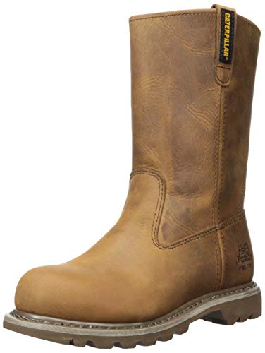 (Caterpillar Women's Revolver Steel Toe Work Boot, Dark Beige, 8.5 M US)