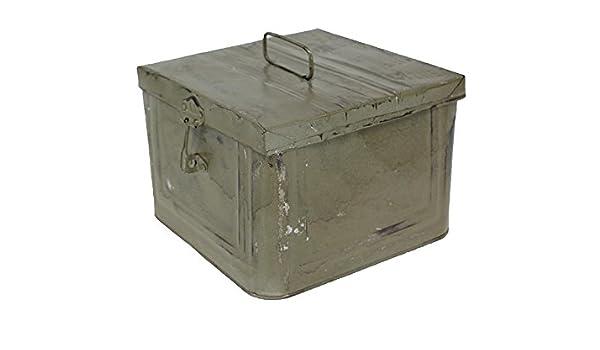 Caja Metalica Decorativa estilo Industrial Vintage color Gris, 23 ...