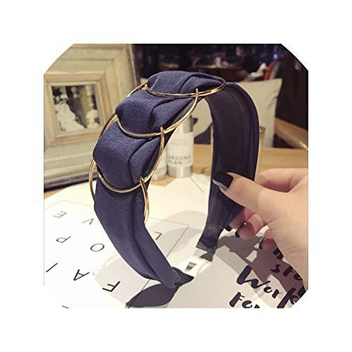 Hair Band Gold Ring Wide Headband Women Girl Hair Head Hoop Bands Accessories For Girls Hair Scrunchie Headdress,5