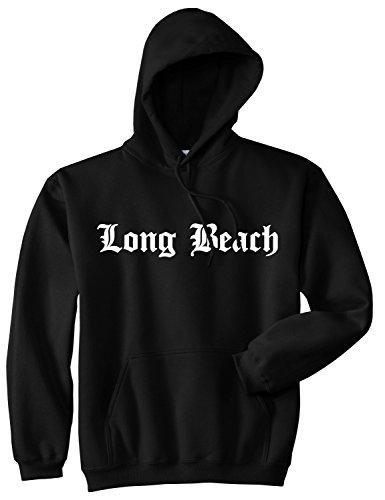 Kings Of NY Long Beach State City California CA Pullover Hoodie Medium Black