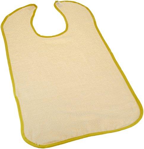 Terry Jumbo Cloth Food Catcher Yellow ,3 Per Pack ()