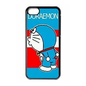 Doraemon 3 Funda caja del teléfono celular Funda iPhone 5C Negro H2X8QVCA teléfono celular nuevo caso único