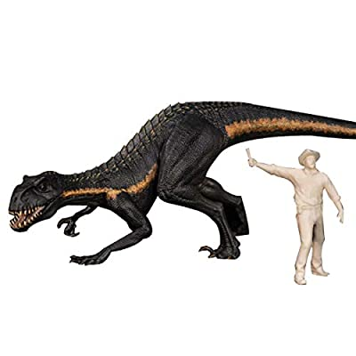 Nanmu Studio 1/35 Scale Indoraptor Figure Raptor Statue Realistic Bereserker Dinosaur Action Figure PVC Model Toys Collector Decor Gift for Adult Two Color (Primary): Toys & Games