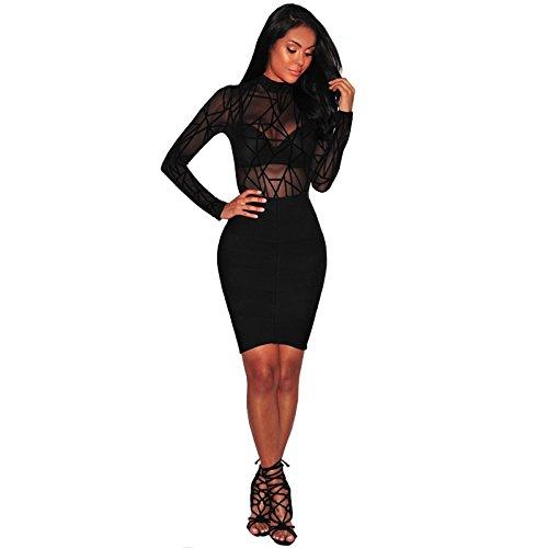 Vestidos Ropa De Moda 2018 Para Mujer De Fiesta y Noche Elegante VE0025 at Amazon Womens Clothing store: