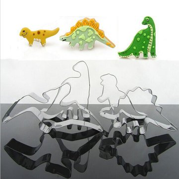 Dinosaur Biscuit Cutter Bakeware & Accessories - 4pcs Stainless Steel Dinosaur Biscuit Cookie Cutter Tools - Carver Cutting Tool