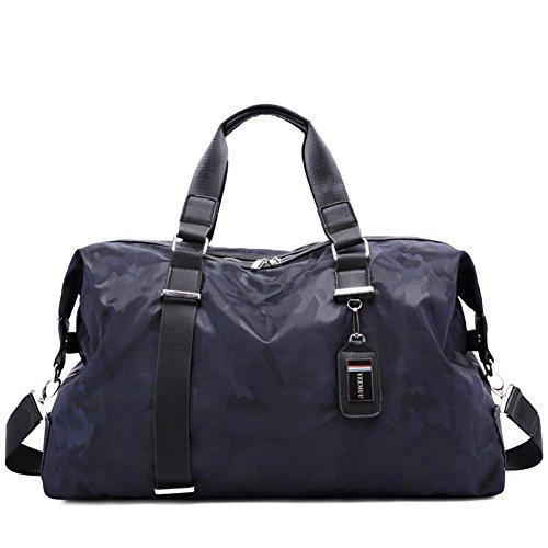 Bolsas de viaje a granel/bolso del equipaje de mano/bolso del mensajero de nylon de la lona-gris azul
