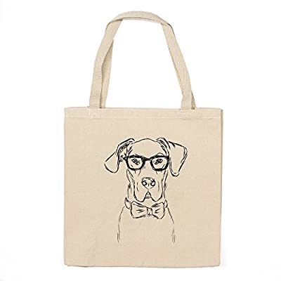 Great Dane Heavy Duty 100% Cotton Canvas Tote Shopping Reusable Grocery Bag 14.75 x 14.75 x 5