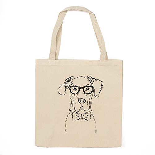 Great Dane Heavy Duty 100% Cotton Canvas Tote Shopping Reusable Grocery Bag 14.75 x 14.75 x ()