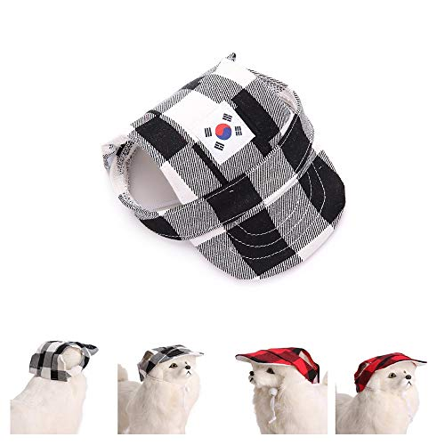 Glumes Dog Hats/Cap Pet Dog Sports Hat Pet Dog Oxford Fabric Hat Sports Baseball Cap with Ear Holes for Small Dogs ()