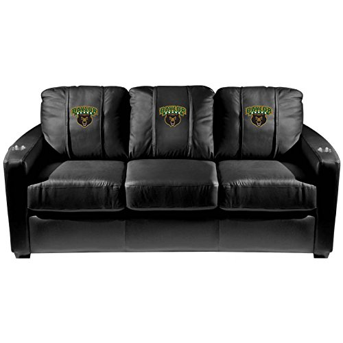 XZipit College Silver Sofa with Baylor Bears Logo Panel, Black