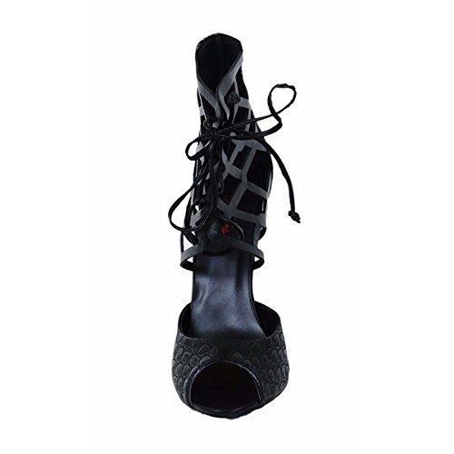 Chaussures Talons Rayures Simples À Serpent Dames Poissons De GONGFF Hauts Chaussures Rome Peau Et Orteil Sandales Chaussures Bouche Originales Black Sangle 8wWxHOfq
