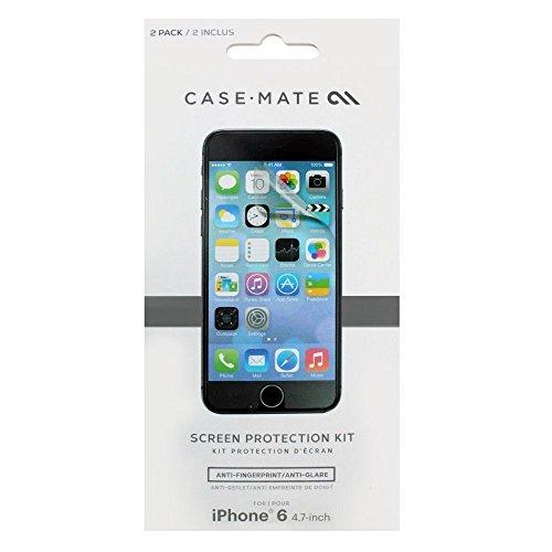 Case-Mate CM031521 Pack de 2 Films de Protection d'écran pour iPhone 6 Transparent