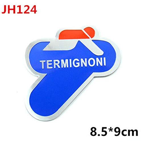 3D Aluminum Heat-Resistant Motorcycle Exhaust Pipes Decal Sticker for Scorpio Yoshimura Akrapovic MIVV Arrow SC AR LeoVince JH124 ()
