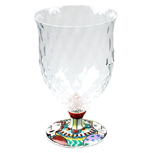 Japanese Kutani Porcelain 9.4oz Drinking Glass Designed by Takeo Nakahara Juice & Water Glass, Kutaniwa Glass - Happiness [Japanese Crafts Sakura] by Japanese Crafts Sakura