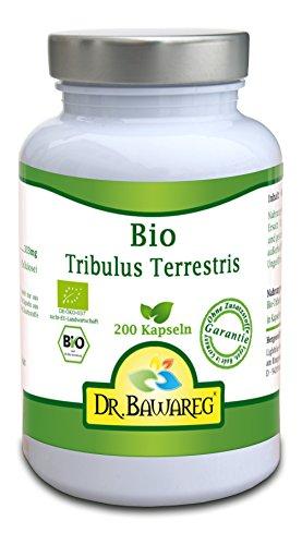 BIO Tribulus Terrestris - 200 Vegi-Kapseln - 333mg reines Pulver ohne Zusätze- Dr. Bawareg