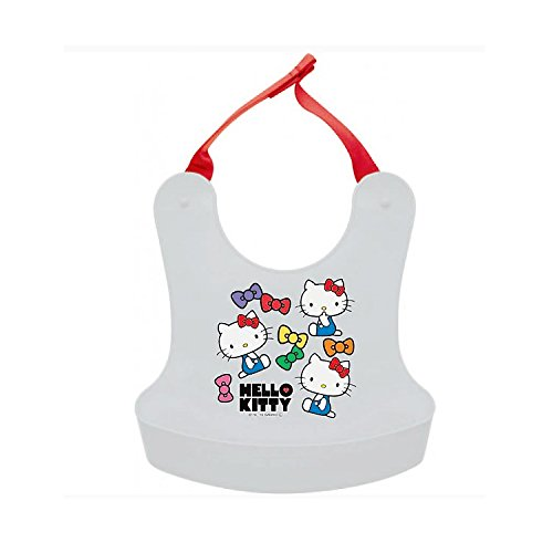 Sanrio Hello Kitty Plastic Scoop Bib : Kitty with Colorful Ribbons