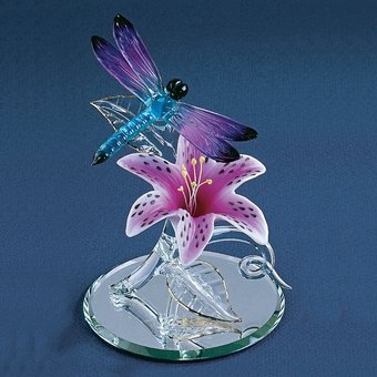 Glass Baron, Dragonfly W/lily