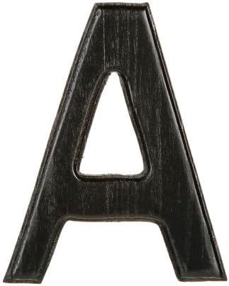 5 Darice 9190-C Solid Wood Letter Black Capital C