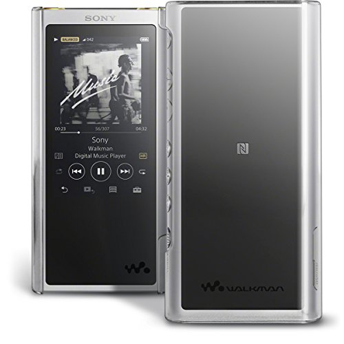 iGadgitz U6873 Clear PC Hard Back Case Cover for Sony Walkman NW-ZX300 High-Resolution Audio MP3 Player Protective Shell + Screen Protector