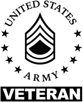 E 7 Rank Vinyl Decal Car Sticker SFC Sergeant First Class Military US Army Vet