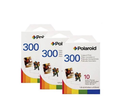 3 Pack of Polaroid 300 Film PIF-300 - 30 Prints