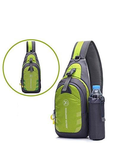 Bolsa en LYY Paquete Escalada nylon mensajero de Paño Green A pie Mochila roca Superficie Movimiento hombro Corriendo de Paquete blanda de pecho pecho de de Paseo Bolsa gR7g4qr